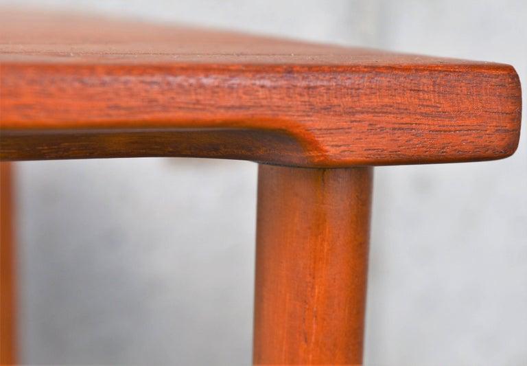 Two Danish Modern Solid Teak 1960s Square Side Table by Hvidt & Mølgaard-Nielsen For Sale 1