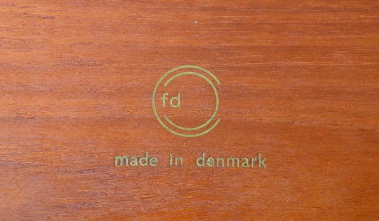 Two Danish Modern Solid Teak 1960s Square Side Table by Hvidt & Mølgaard-Nielsen For Sale 3
