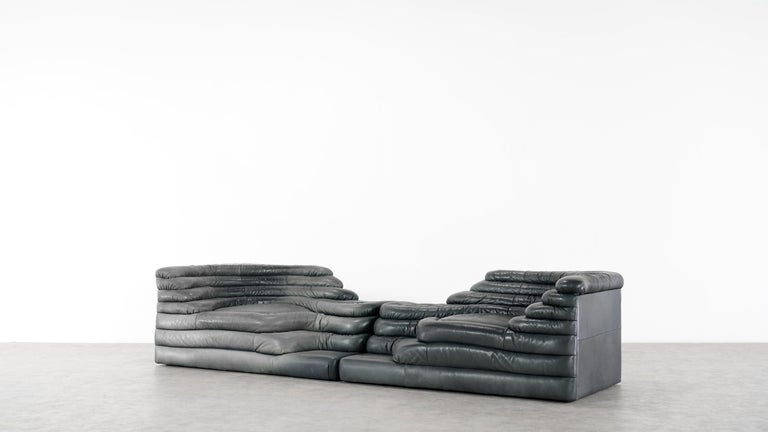 Two De Sede Terrazza sofas, model DS 1025  Designed in 1972 by U. Klug & Ueli Berger for De Sede, Switzerland.  Sophisticated design sofa elements form the perfect basis for implementing your own interior design and furnishing concepts. The