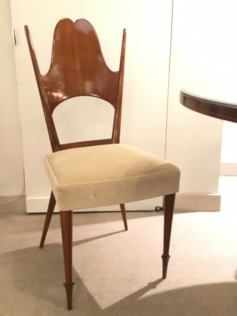 Two Dining Chairs, Italy, Art Moderne, circa 1946 For Sale 3