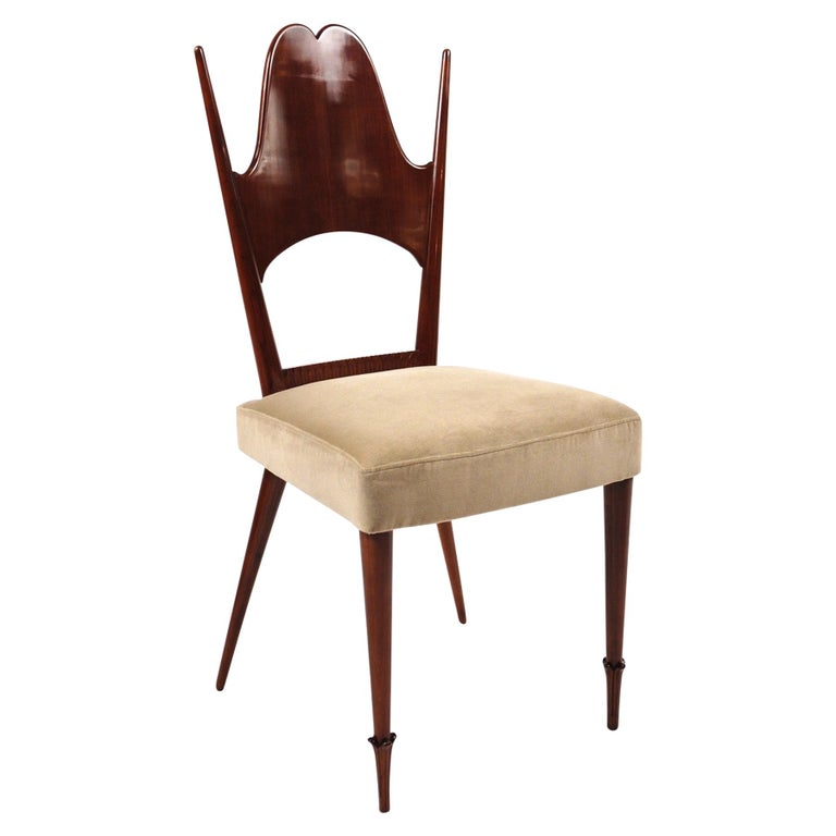 Two Dining Chairs, Italy, Art Moderne, circa 1946 For Sale