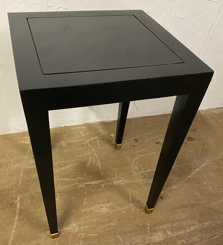 North American Two Donghia Madrid Square Side Tables For Sale