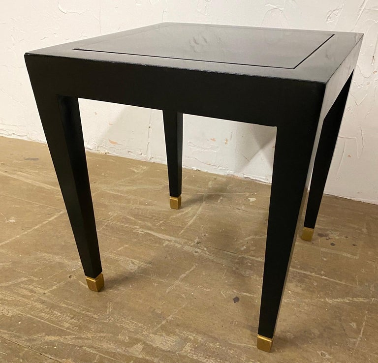 Late 20th Century Two Donghia Madrid Square Side Tables For Sale