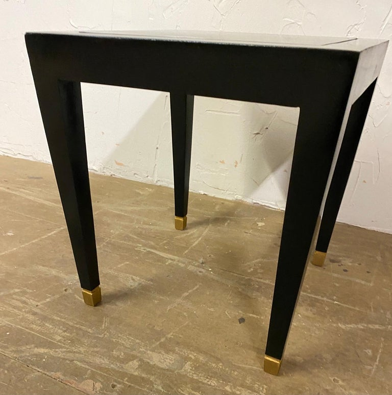 Wood Two Donghia Madrid Square Side Tables For Sale