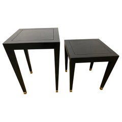 Two Donghia Madrid Square Side Tables