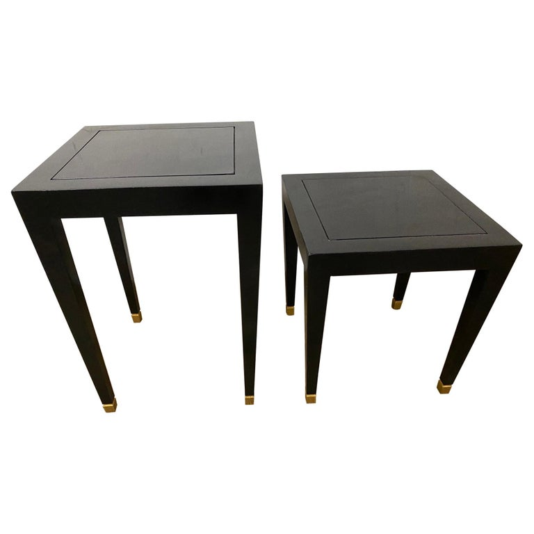 Two Donghia Madrid Square Side Tables For Sale