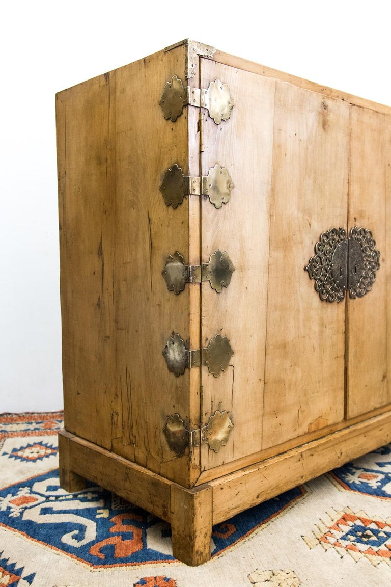 Wood Two-Door Chinese Style Cabinet For Sale