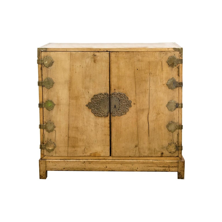 Two-Door Chinese Style Cabinet For Sale
