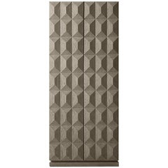 Two-Door Diamond Patterned Cabinet