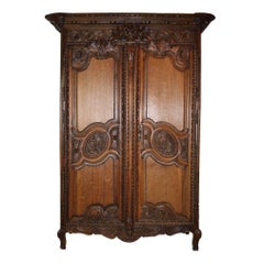 Two Door French Wedding Armoire/Wardrobe, circa 1880