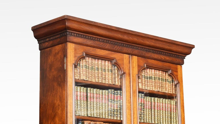 Two-Door Narrow Walnut Bookcase 1