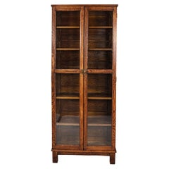 Two-Door Oakwood Bookcase