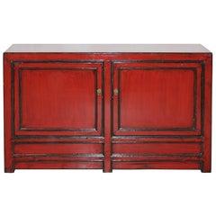 Two-Door Red Sideboard