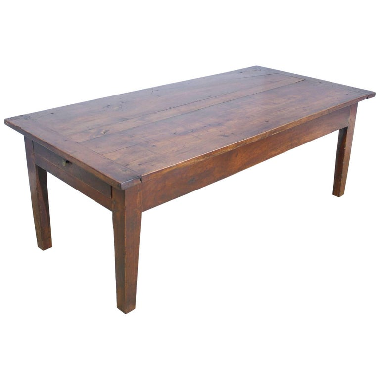 Two Drawer Cherry Coffee Table For Sale At 1stdibs