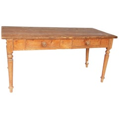 Two Drawer Country Farm Table
