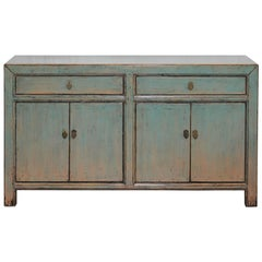 Two-Drawer Green/Blue Sideboard