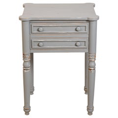 Two-Drawer Painted Distressed Table