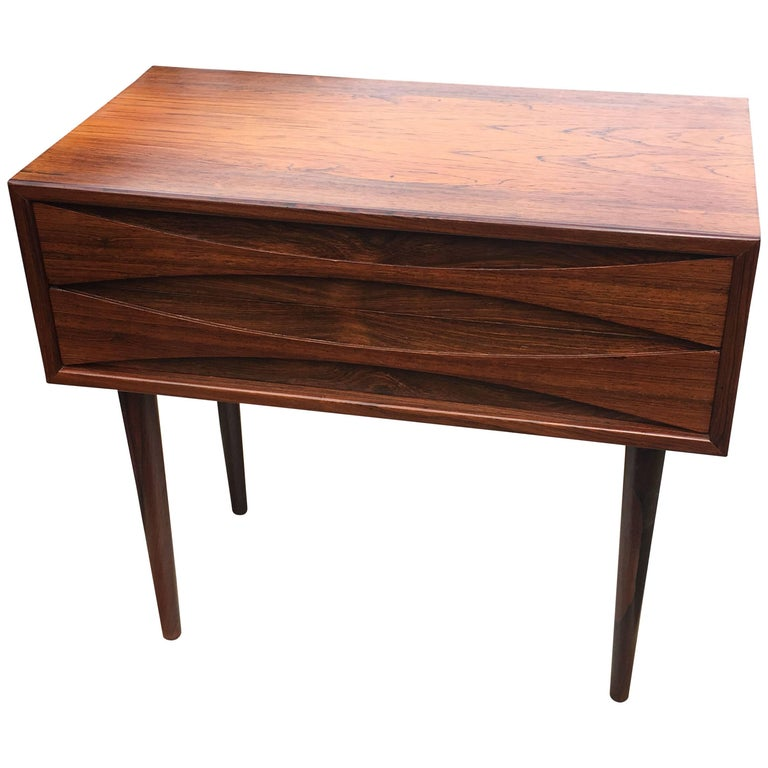 Two Drawer Rosewood Low Cabinet By Arne Vodder For Nc Mobler