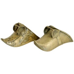 Two Dutch Shoes from the 17th Century in Bronze