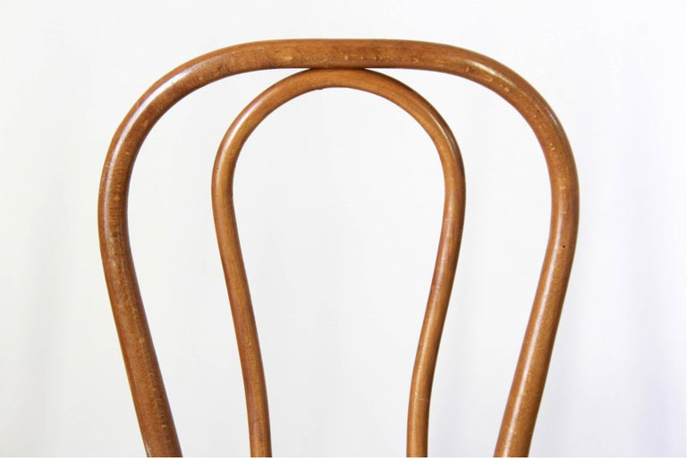 Cane Two Early 20th Century Thonet Style curved Wood Chairs For Sale