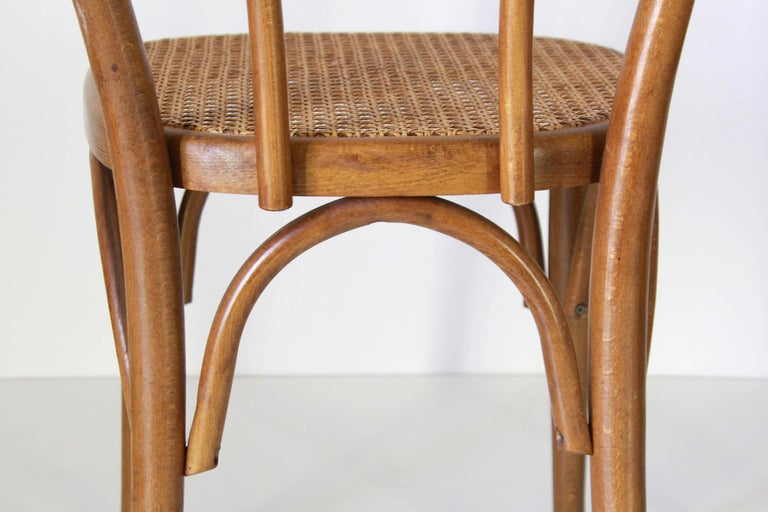 Two Early 20th Century Thonet Style curved Wood Chairs For Sale 1