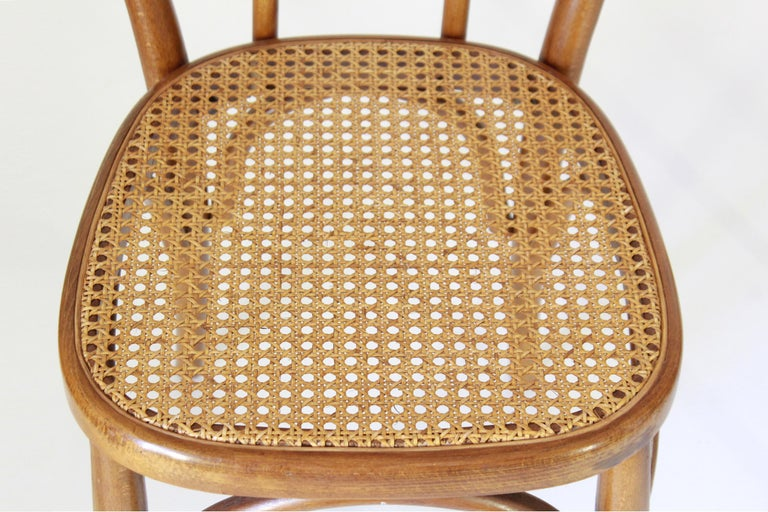 Two Early 20th Century Thonet Style curved Wood Chairs For Sale 3