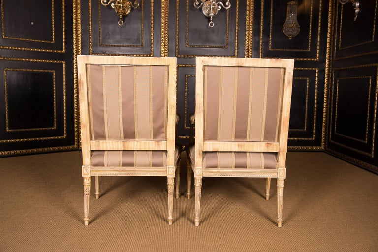 Two Elegant French Armchairs in the Louis Seize Style For Sale 3