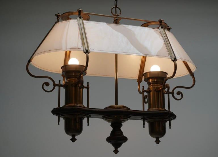 Two Elegant Glass and Copper Ceiling Lights For Sale 4