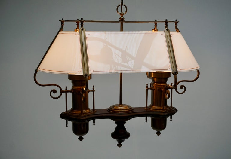 Two Elegant Glass and Copper Ceiling Lights For Sale 6