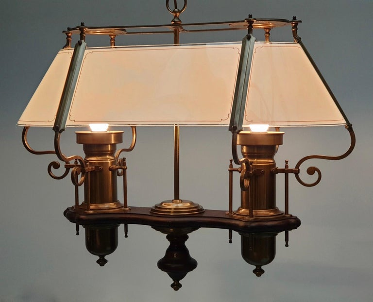 Hollywood Regency Two Elegant Glass and Copper Ceiling Lights For Sale