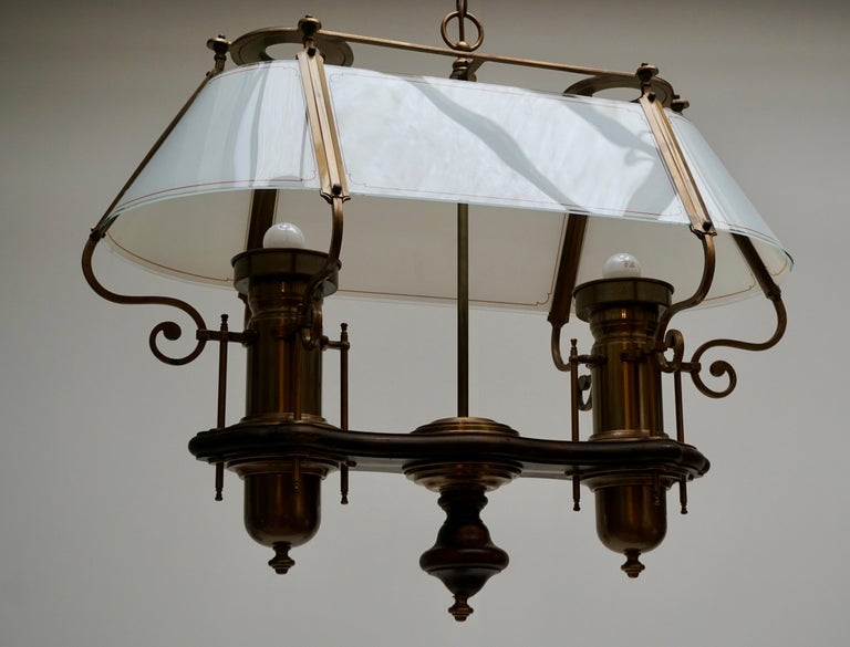Two Elegant Glass and Copper Ceiling Lights In Good Condition For Sale In Antwerp, BE