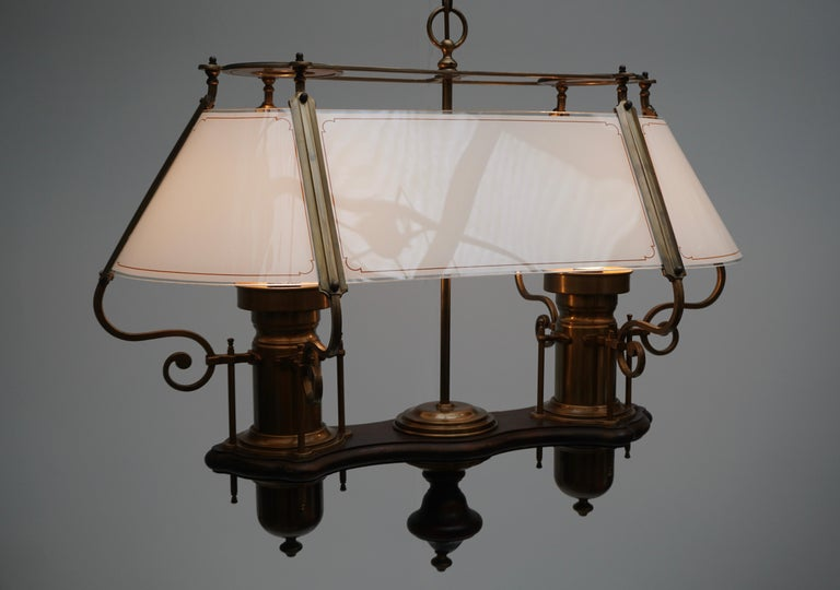 Two Elegant Glass and Copper Ceiling Lights For Sale 3
