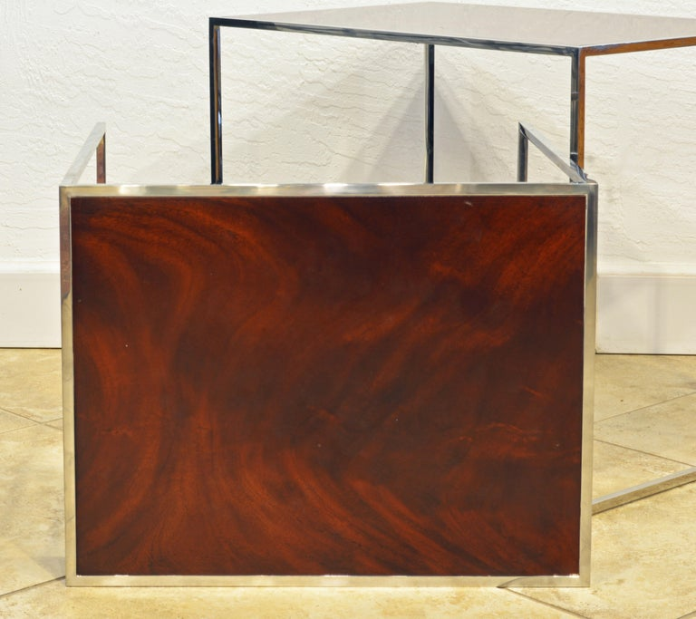 20th Century Two Elegant Nesting Tables by Michael Kirkpatrick for Decca Bolier Collection For Sale