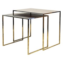 Two Elegant Nesting Tables by Michael Kirkpatrick for Decca Bolier Collection
