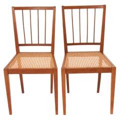 Two Elegant Werkstätte Hagenauer Chairs M006 by Julius Jirasek, Austria, 1930