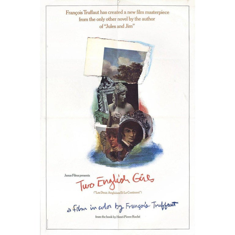 Original 1971 British one sheet poster by Richard Taddei for the film Two English Girls (Les deux Anglaises et le continent) directed by Francois Truffaut with Jean-Pierre Leaud / Kika Markham / Stacey Tendeter / Sylvia Marriott. Very good