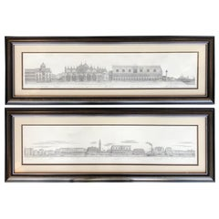 Two Engravings of Italian Cityscapes