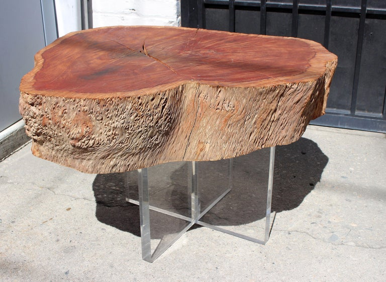 Mid-Century Modern Two Eucalyptus Side Table For Sale