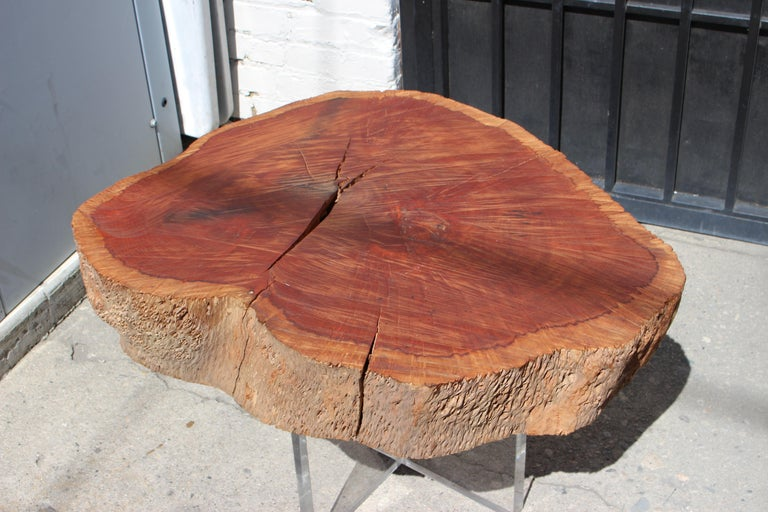 American Two Eucalyptus Side Table For Sale