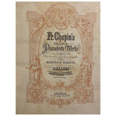 Two F. Chopin's Pianoforte Works, Ballads and Nocturnes, Leipzig, 1912