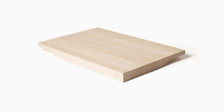 Two-sided Maple Wood Cutting Board and Serving Plate, Rettangolo, Made in Italy For Sale 1