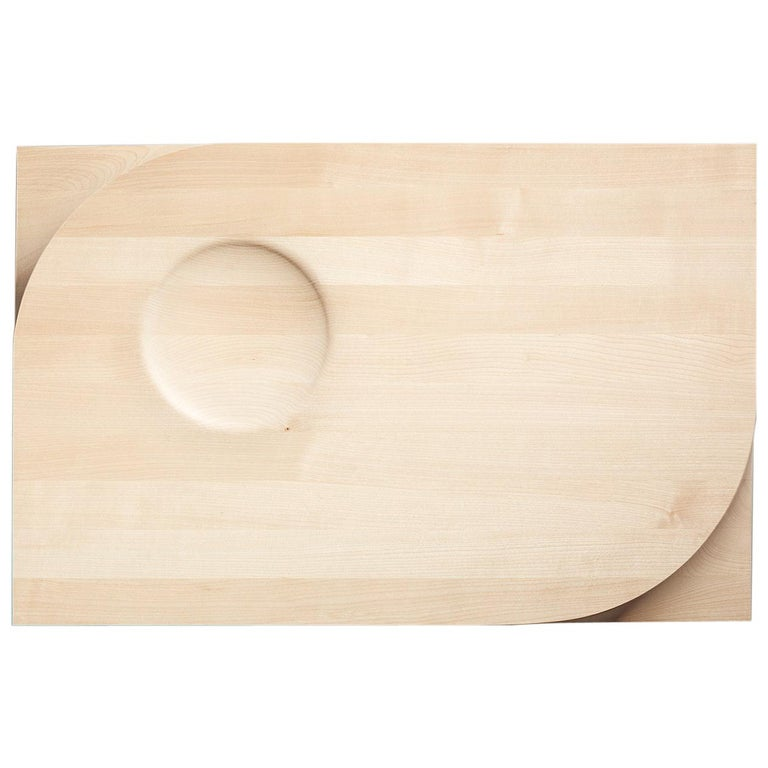 Two-sided Maple Wood Cutting Board and Serving Plate, Rettangolo, Made in Italy For Sale