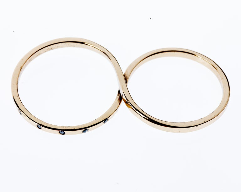 5 pcs Black Diamond Gold Two Finger Ring Infinity J Dauphin  J DAUPHIN Made in 14k Gold A Fashion ring which symbolize love and infinity  This piece comes in 3 sizes  (Size Us 5 and 6) (Size Us 6 and 7) (Size Us 7 and 8)  (The rings has two loops