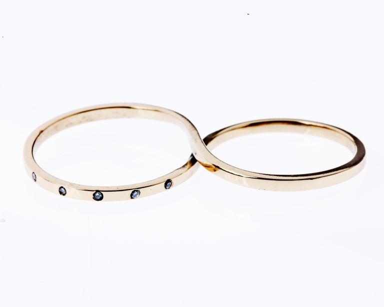 White Diamond Gold Ring Love Infinity Symbol Two Finger J Dauphin  J DAUPHIN