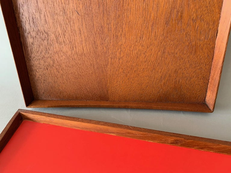Mid-Century Modern Two Finn Juhl Teak Trays for Torben Orskov For Sale