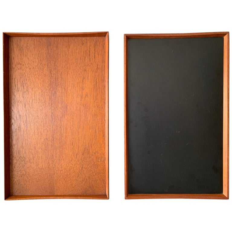 Two Finn Juhl Teak Trays for Torben Orskov For Sale