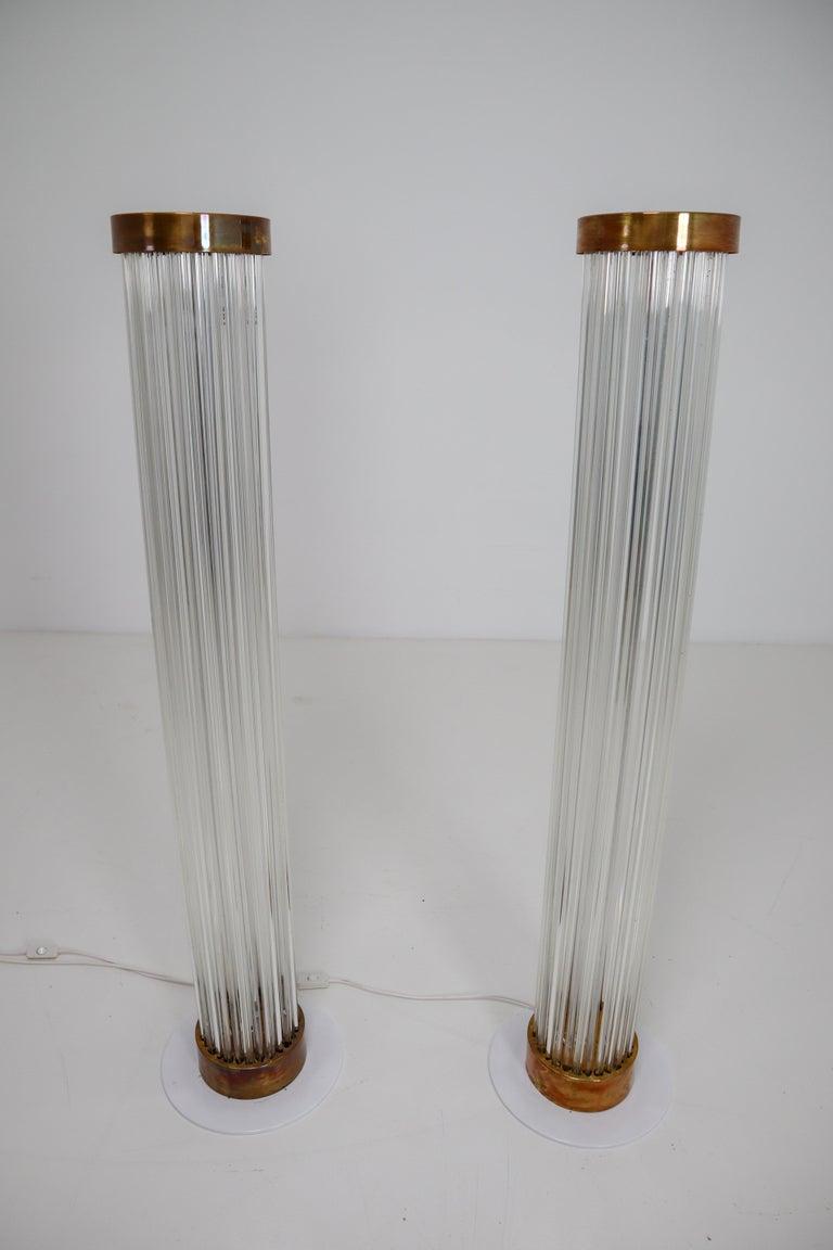 Mid-Century Modern Two Floor Lamps by Fa. Preciosa in Kamenicky Senov, Czechoslovakia in the 1970s For Sale