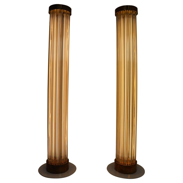 Two Floor Lamps by Fa. Preciosa in Kamenicky Senov, Czechoslovakia in the 1970s For Sale