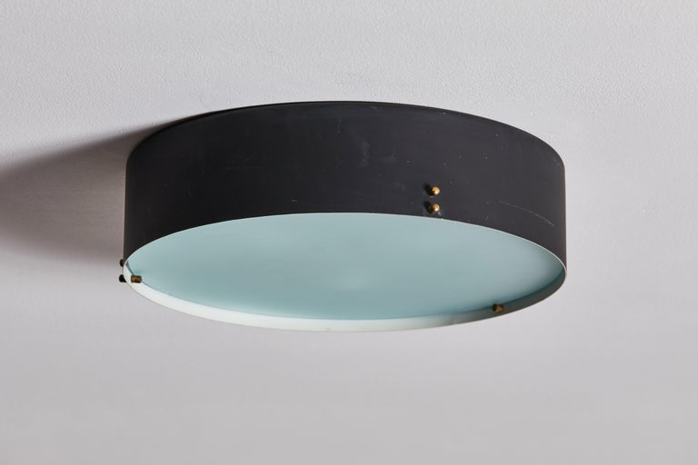 Two Flush Mount Ceiling Lights by Bruno Gatta for Stilnovo For Sale 2