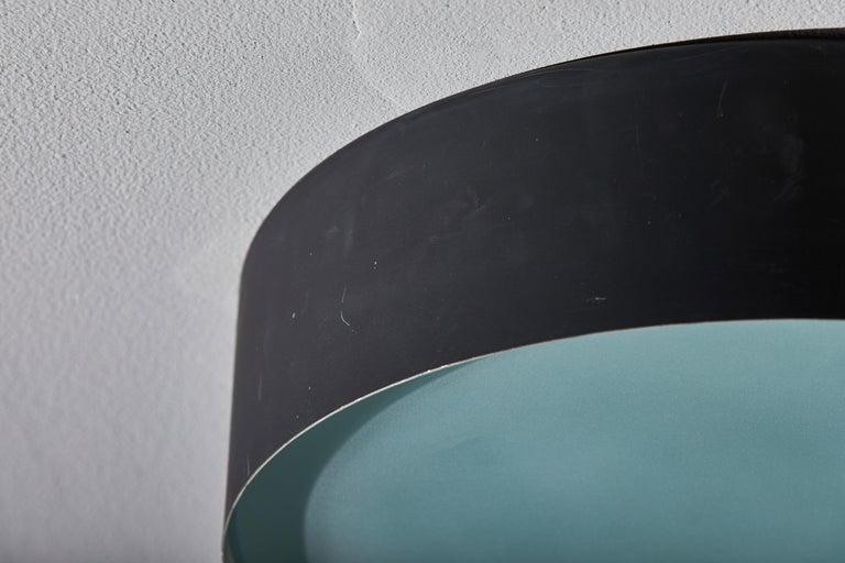 Two Flush Mount Ceiling Lights by Bruno Gatta for Stilnovo For Sale 3